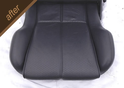 Leather car seat restoration and repair - after